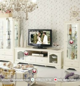 Set Bufet TV Minimalis Furnitur Duco