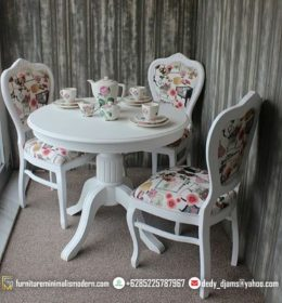 Set Meja Makan Shabby Cat Duco